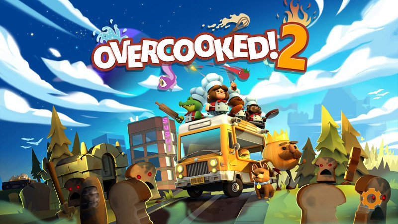 オーバークック2のタイトル画面