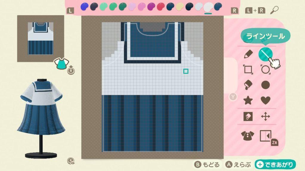 セーラー服のデザイン-背中