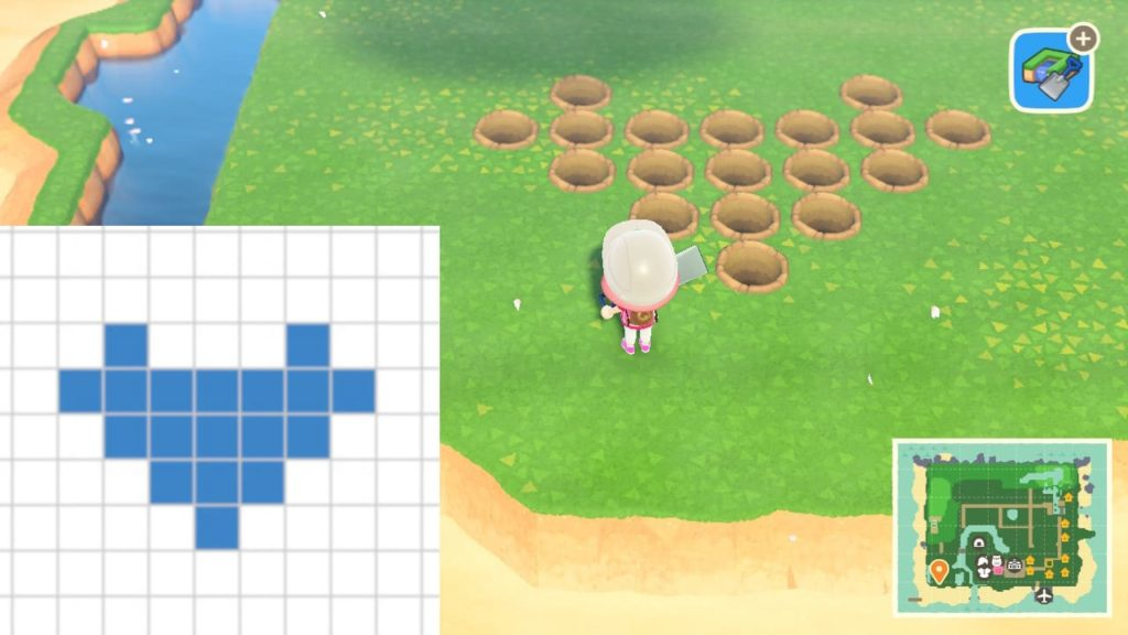ハートの池を作る手順1