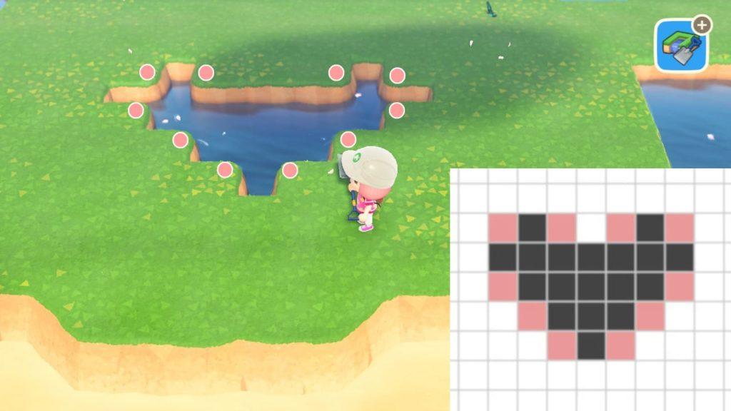 ハートの池を作る手順2