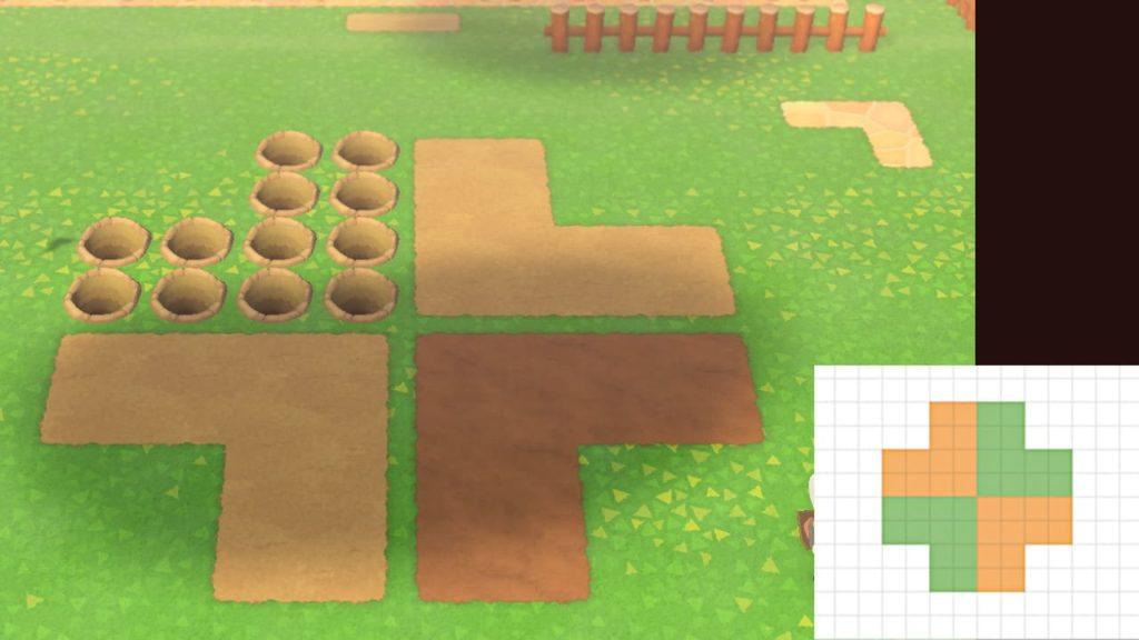 四葉のクローバーの地面の作り方1