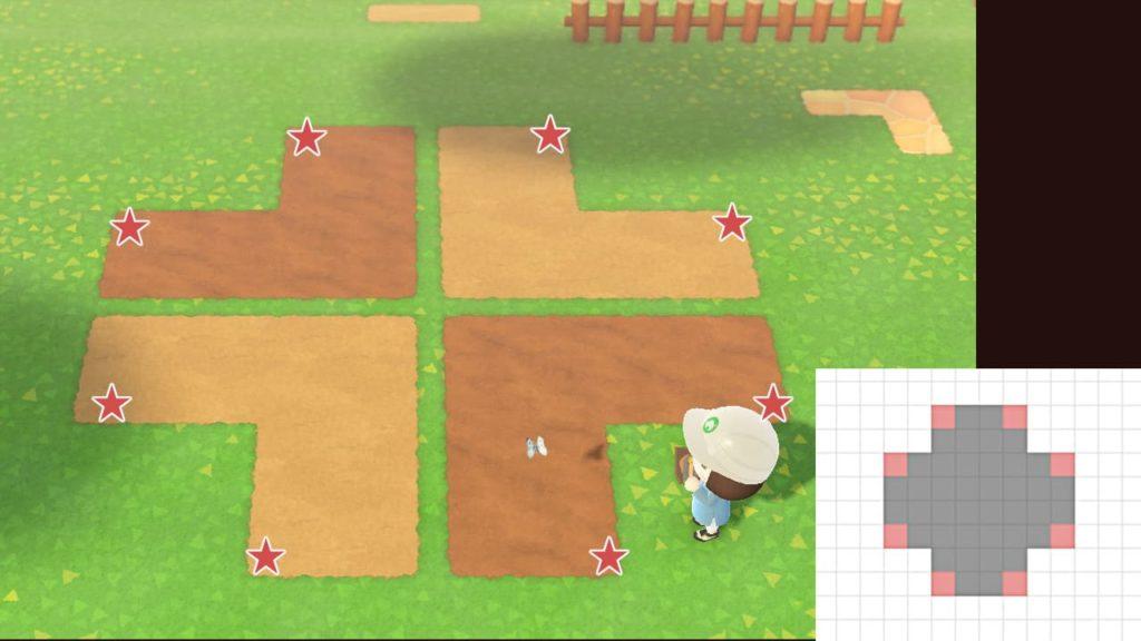 四葉のクローバーの地面の作り方2