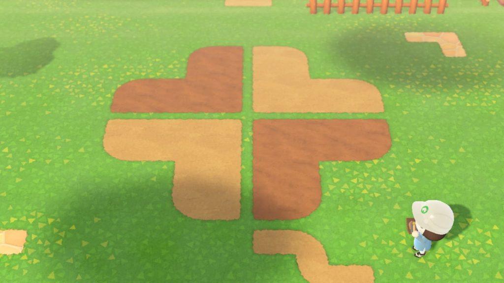 四葉のクローバーの地面