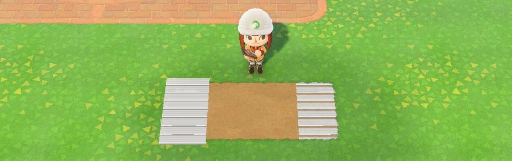 地面にマイデザインを重ねる
