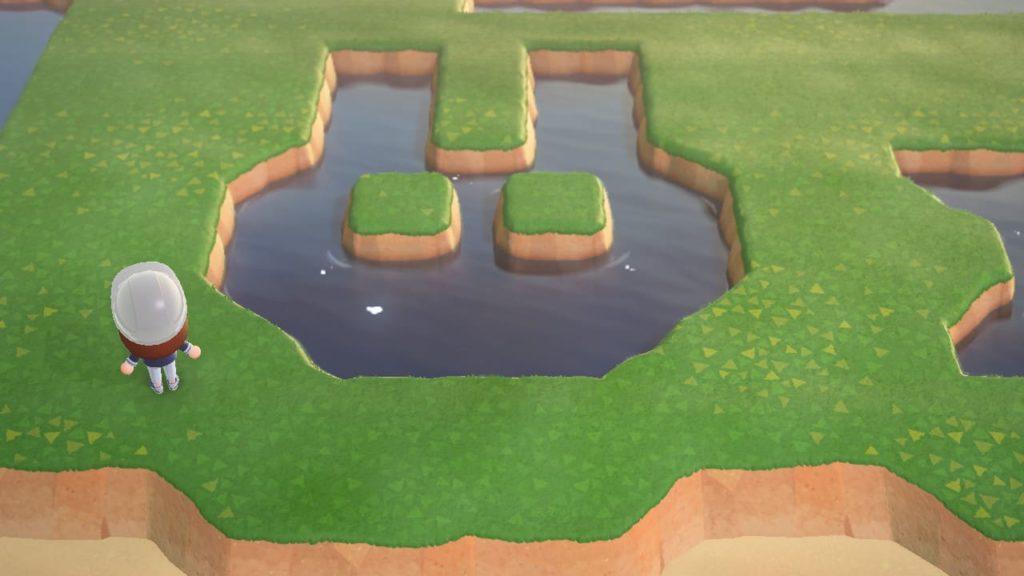 どうぶつの形の池