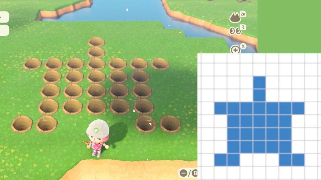 星型の池を作る手順1