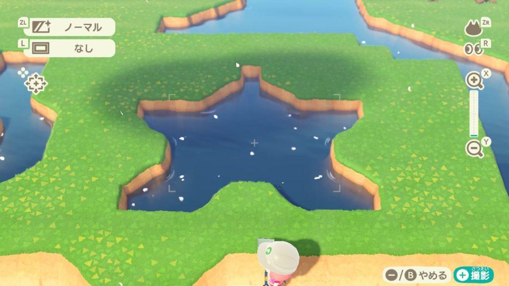 星型の池完成