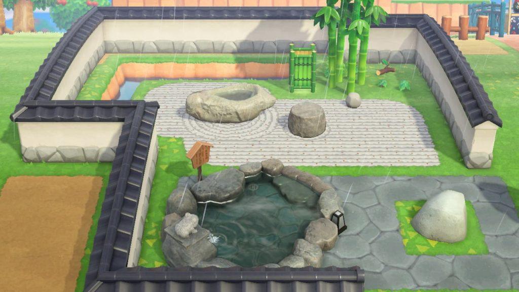 枯山水デザインを使用した日本庭園の例2