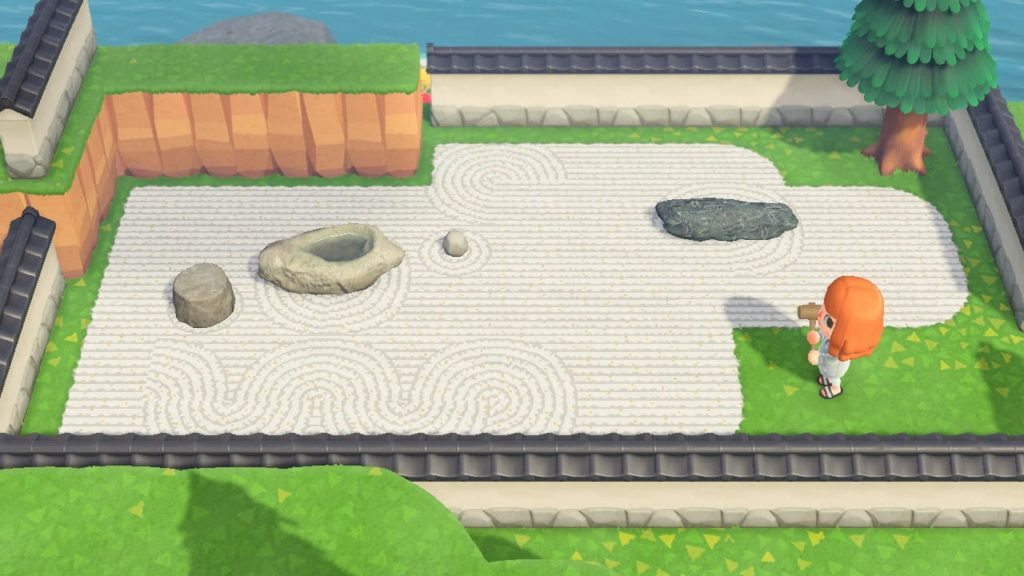 枯山水デザインを使用した日本庭園の例1