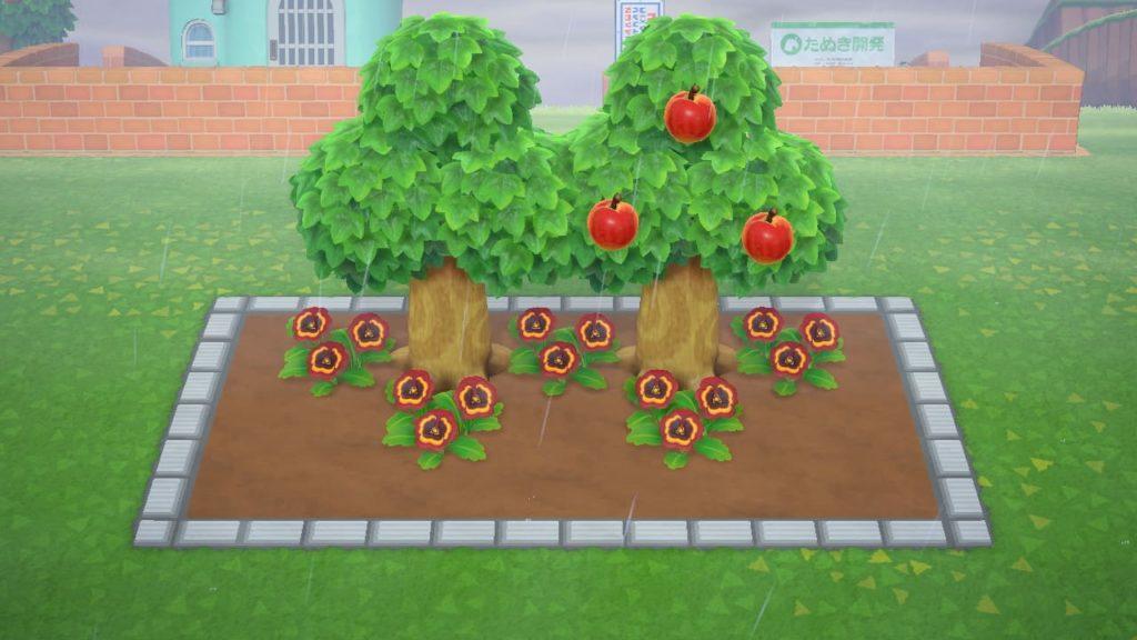 花壇用マイデザインの使用例
