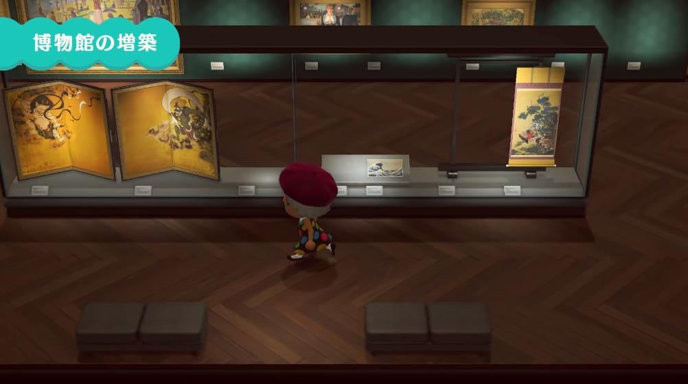 博物館に美術品の展示スペースが登場1