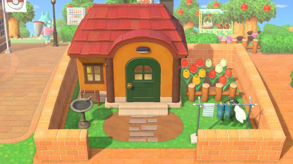 住民の家-シンプルな庭1