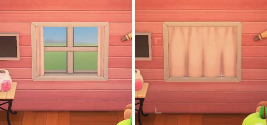 自宅のカーテンを開ける