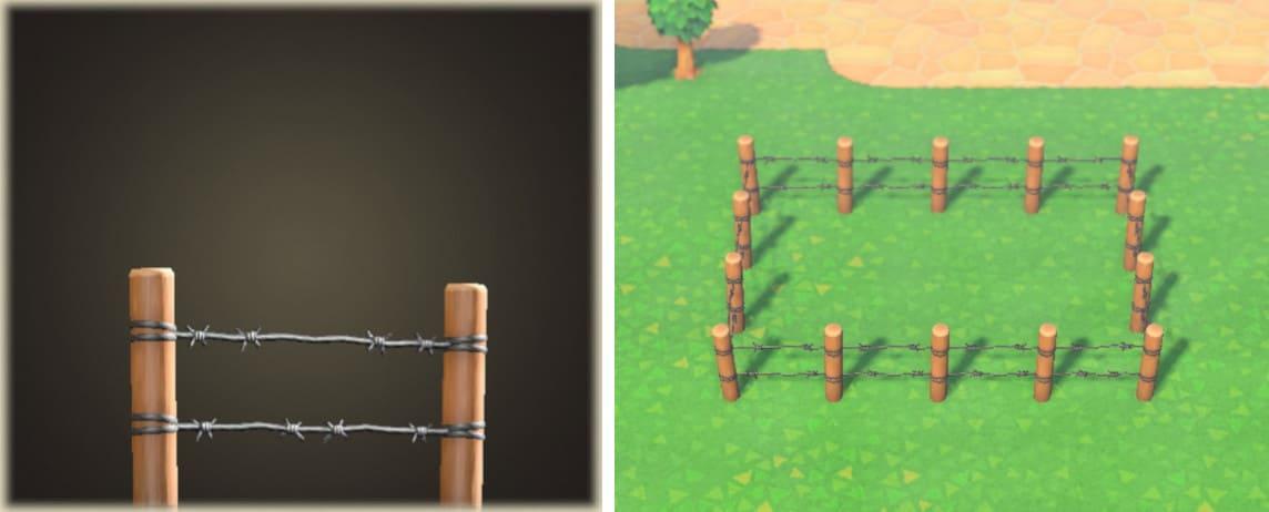 あつ森 斜め 柵