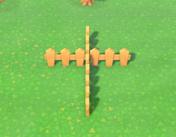 柵を十字に立てる