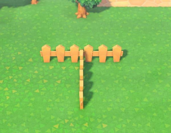 柵をT字に立てる