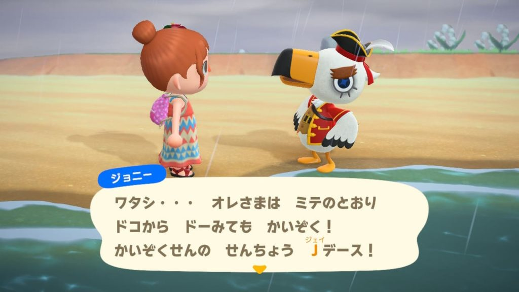 海賊船の船長Jを名乗るジョニー