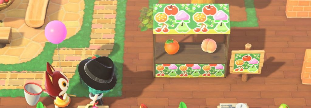 果樹園の屋台用マイデザインの使用例