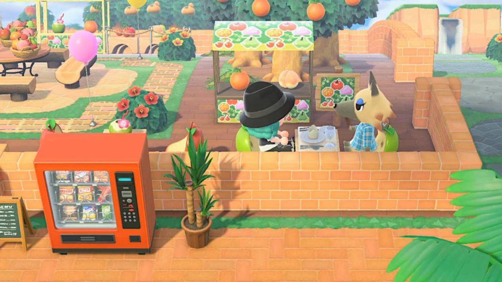果樹園の飲食スペース
