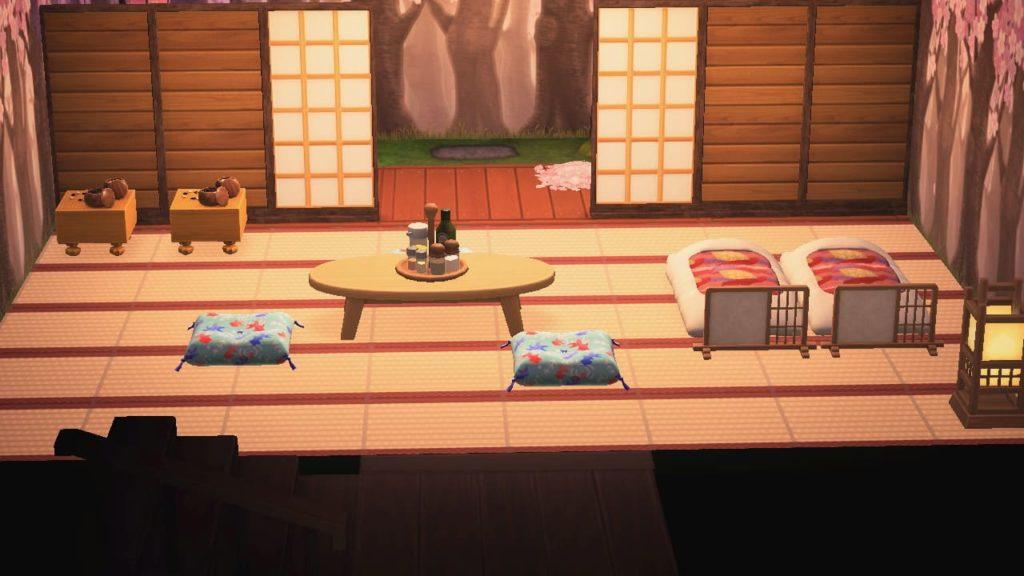 桜の庭がある和風旅館1
