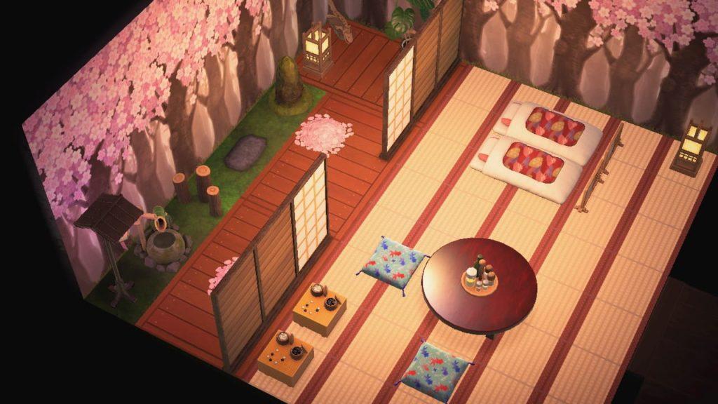 桜の庭がある和風旅館2