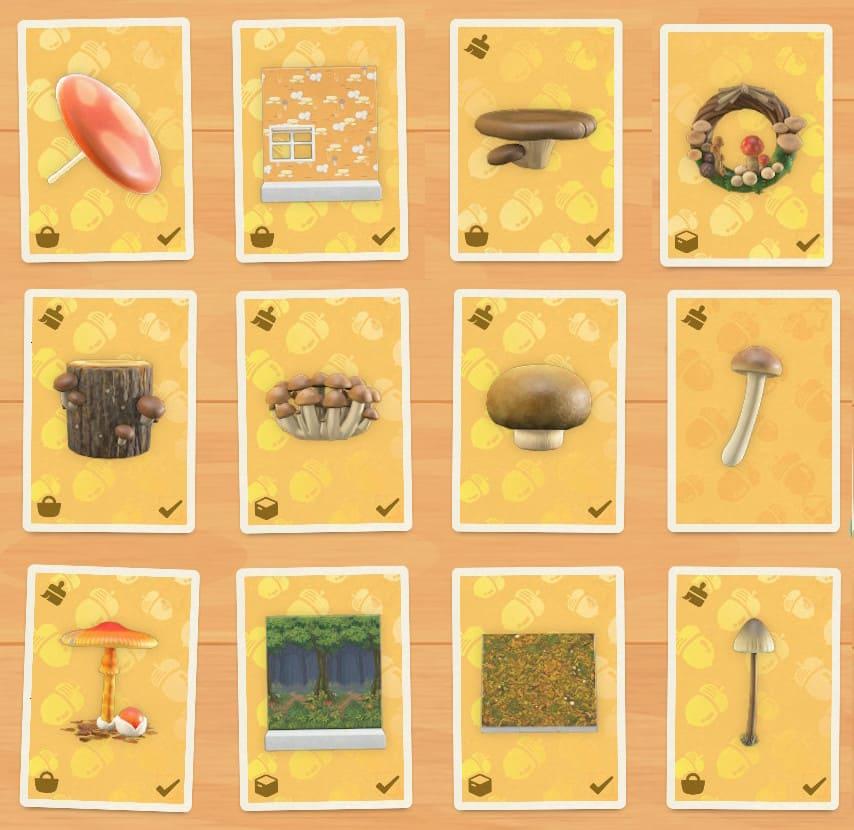 キノコ家具の全種類