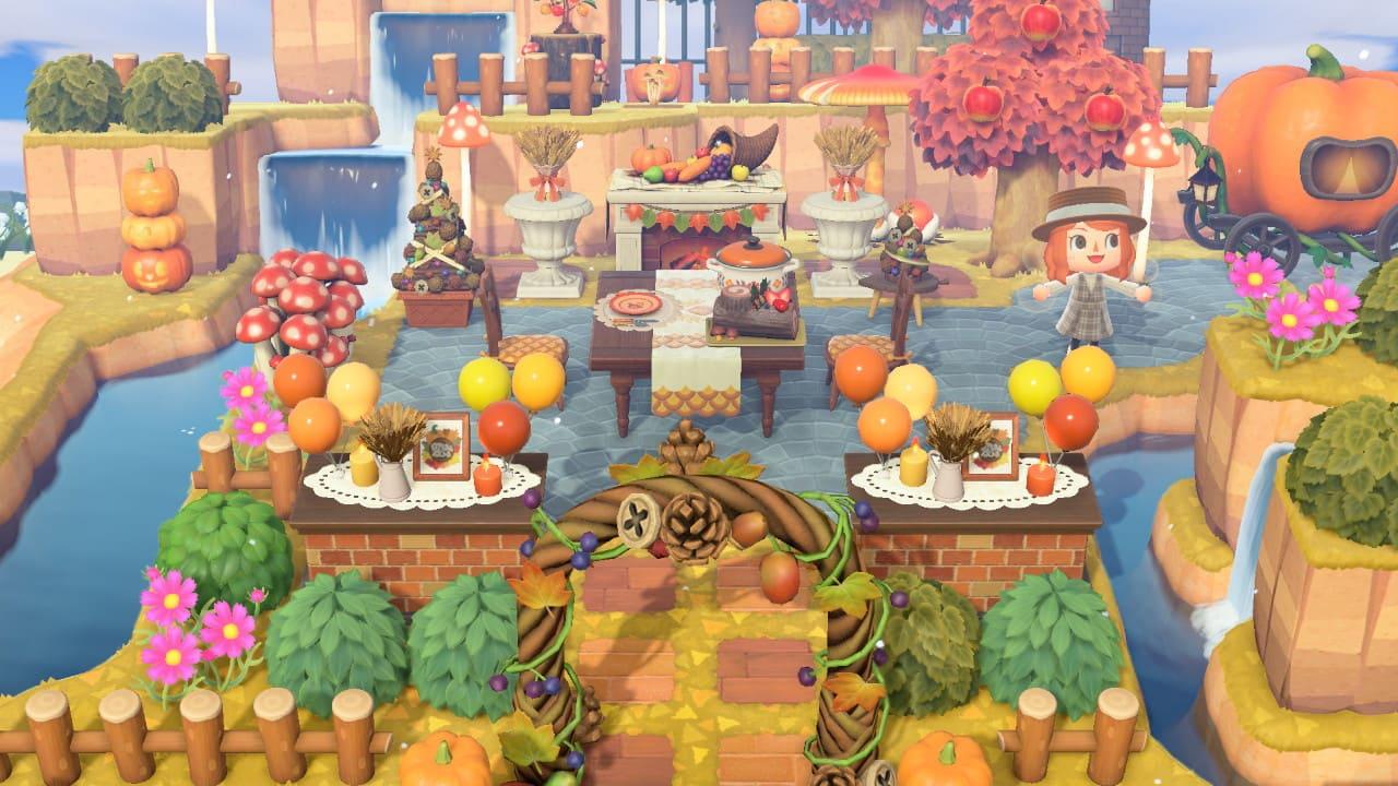 秋の家具を使った広場づくり-5