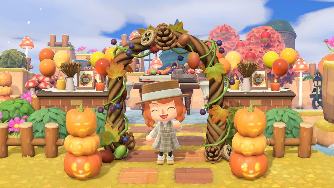 秋の家具を使った広場づくり-4