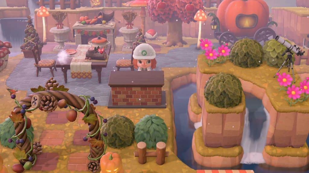 秋の家具を使った広場づくり-3