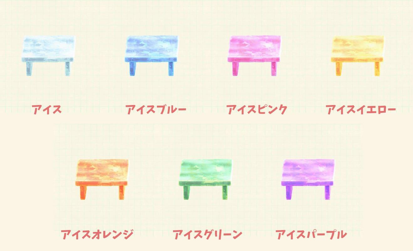 リメイク-こおりのテーブル