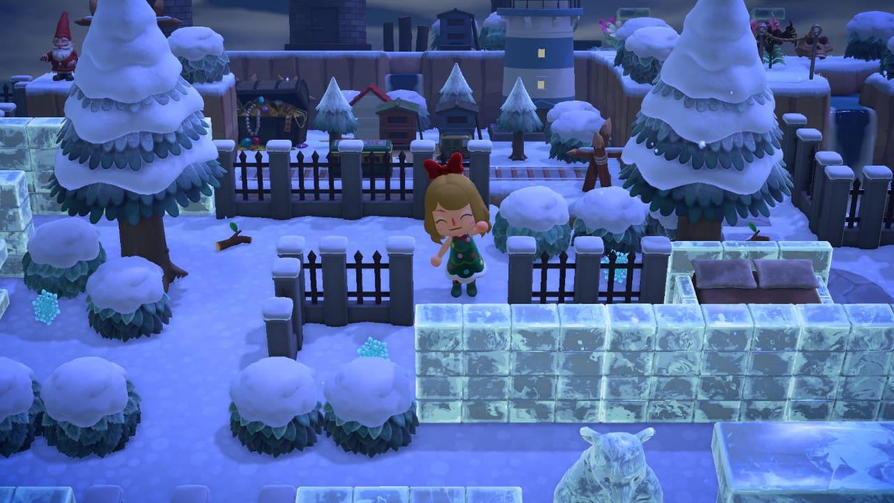 雪と氷の迷路のクリエイトが完成