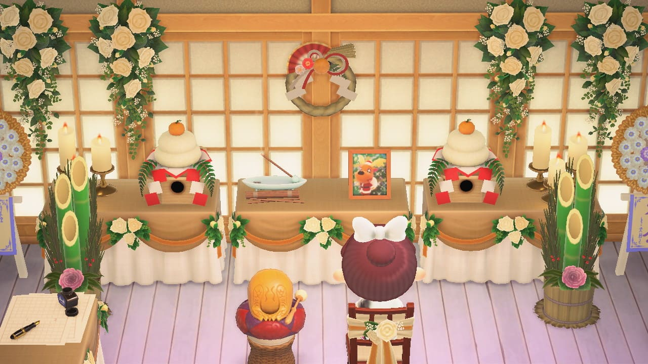 仏壇にかがみもちを飾ってみる